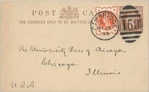 Entier Postal Stationery 1 / 2p + 1 1 / 2p for Chicago
