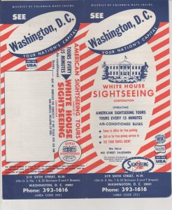 Washington DC Vintage Travel Brochure American Sightseeing Bus Tours 1965