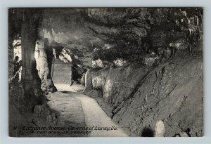 Luray VA-Virginia, Luray Caverns Entrance Avenue, Stairs, Vintage Postcard