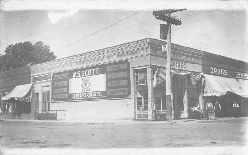 Drug Store Toys Books Purity Ice Cream Exterior View Real Photo Postcard J47759