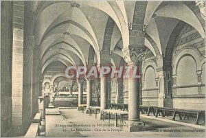 Postcard Abbey of Benedictine Solesmes Sarthe Refectoire Approval Fresco