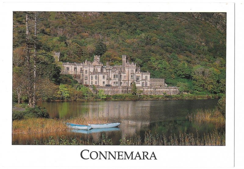 Connemara Ireland Kylemore Abbey Vintage Liam Blake 4X6 Postcard