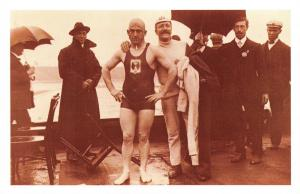 Nostalgia Postcard Swimmer Henry Taylor Olympic Games 1908 Repro Card NS32
