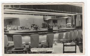 Dugout Cafe & Bar Interior Port of Duluth Minnesota 1950s postcard
