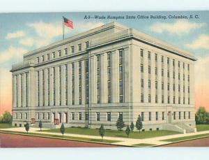 Unused Linen WADE HAMPTON STATE OFFICE BUILDING Columbia South Carolina SC Q9469
