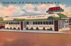 Rocky Mount North Carolina Knowles Diner Fried Chicken Vintage Postcard JI657905