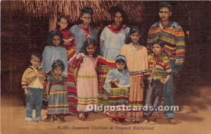 Seminole Children Tropical Hobbyland Indian Village, Miami, Florida, FL, USA ...