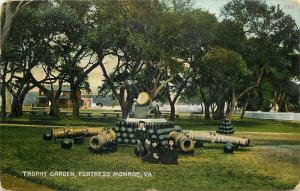 Fortress Monroe Virginia~Trophy Garden~Children Play on Cannon Balls~1910