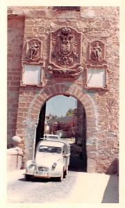 Spain Old Vintage Antique Post Card Toll Gate Toledo Non Postcard Backing