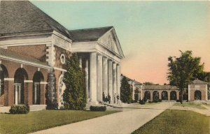 Vintage Hand-Colored Postcard; Hall of Springs, Saratoga Springs NY unposted