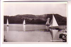 Real Photo, Yachting Off Storrs Hall Jetty England, North British Trust Hotels