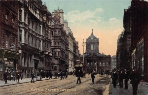 Castle Street, Liverpool, England, Great Britain, early postcard, unused