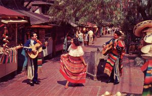 CA - Los Angeles. Olvera Street Troubadors and Dancer