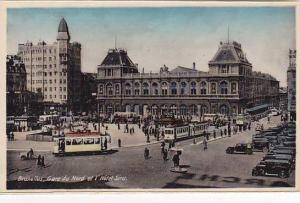 Belgium Bruxelles Gare du Nord et l'Hotel Real Photo