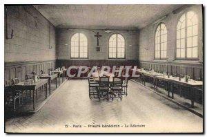 Postcard Old Paris Benedictine Prioress The Refectory