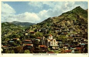 cyprus, TROODOS, Mountain Village (1950s) Tuck Postcard (2)
