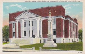 Kentucky Madisonville Hopkins County Court House & Confederate Monument Curteich