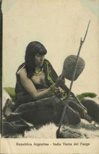 argentina, India Tierra del Fuego Indian Woman (1910s) Z. Fumagalli