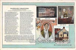 Barbara Fritchie By John Greenleaf Whittier Patriotic Unused