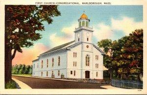 Massachusetts Marlborough First Congregational Church 1941