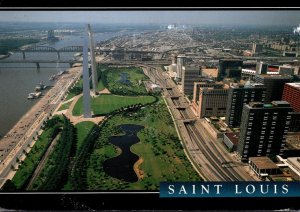 Missouri St Louis Aerial View Of Riverfront 1995