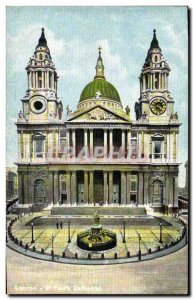 Old Postcard London St Paul's Catedral