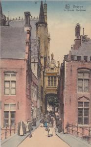 BRUGGE, West Flanders, Belgium, 1900-1910's; De Blinde Ezelstraat