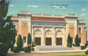 El Paso Texas~Scottish Rite Cathedral~1941 Postcard