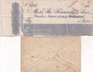 Newcastle Staffordshire Antique Rare 1820s Victorian Bank Of England Receipt