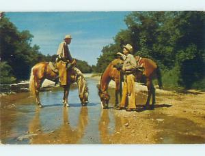 Unused Pre-1980 Police TEXAS RANGERS ON HORSEBACK state of Texas hn2655
