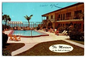 1973 The Mariner on the Gulf of Mexico, St. Petersburg Beach, FL Postcard