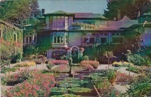 Canada Victoria Italian Gardens and Residence At Butchart Gardens 1960
