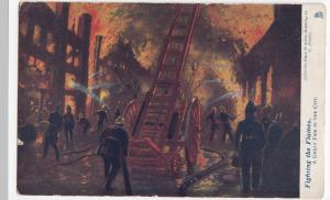 A Great Fire In The City PPC, Tuck Fighting The Flames Series, Oilette, Unposted