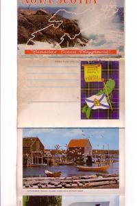 Nova Scotia, Yarmouth Lighthouse, Lobster Traps, Bluenose II, Souvenir Folder...