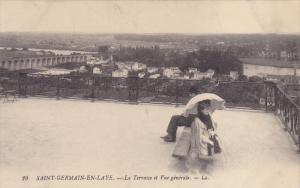SAINT GERMAIN EN LAYE (Yvelines), France, 1900-1910s; La Terrasse Et Vue Gene...