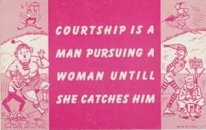 Courtship is a man pursuing a woman until she catches him , 1930s