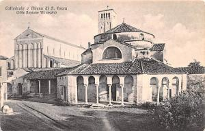 Italy Old Vintage Antique Post Card Cattedrale e Chiesa di S Fosca Unused