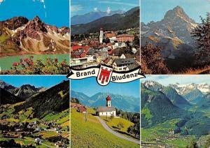 Brand Bludenz, Luenersee, Zimba, Brand Buerserberg Buers Kapelle Panorama