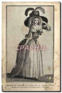 Old Postcard History of Costume Period of the Convention