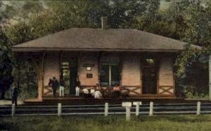Conimicut, Rhode Island, RI, USA Railroad Train Depot Postcard Post Card  Con...