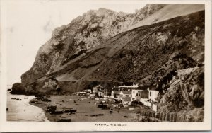 Funchal The Beach Canadian Pacific Cruise c1929 Will F. Taylor RPPC Postcard E68