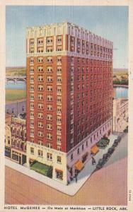 Arkansas Little Rock Hotel McGehee 1942 Curteich