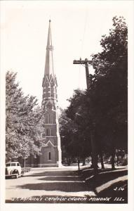 Illinois Minonk St Patrick's Catholic Church Real Photo