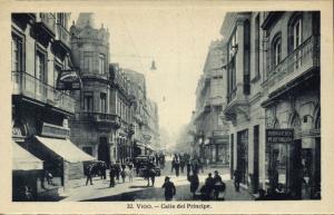 spain, VIGO, Calle del Principe, Shops (1920s) H.A.E. (?), No. 32 Postcard