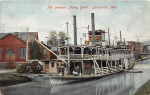 F27/ Zanesville Ohio Postcard c1910 Steamer Valley Gem Muskingum River