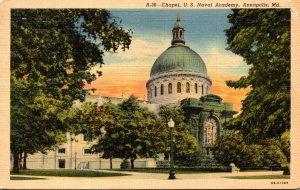Maryland Annapolis Chapel U S Naval Academy 1943 Curteich