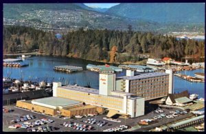 British Columbia VANCOUVER Aerial View The Bayshore Inn Stanley Park - Chrome