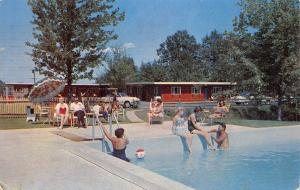 Enfield Connecticut~Dunn's Motel~Bathing Beauties Around Pool~Beach Ball~1960 PC