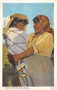 Reno Nevada Native Indian Woman Baby Antique Postcard K101959