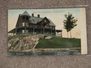 Pine Point, Orange Lake, Newburgh, N.Y., used vintage card